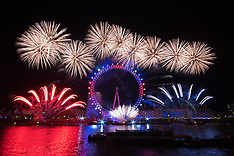 2016-01-01 London celebrates new year with fireworks spectacular.