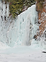 WA09429-00...WASHINGTON - Frozen Franklin Falls on the South Fork Snoqualmie River, Mount Baker-Snoqualmie National Forest.
