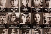 "Tokyo, April 10 2014 -Portraits of the ""Spirits of Yasukuni Shrine"" (deceased Japanese soldiers enshrined at Yasukuni shrine) on display inside Yushukan, Yasukuni's war museum."