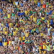 Brazilian and Argentinian fans during the Brazil V Argentina International Football Friendly match at MetLife Stadium, East Rutherford, New Jersey, USA. 9th June 2012. Photo Tim Clayton
