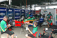 DURBAN, South Africa, In the pits of Team South Africa (6th 1:19.567) during the Friday practice sessions held as part of the A1GP race weekend in Durban, South Africa on Friday 22 February 2008. Photo: SportsPics/SPORTZPICS