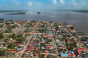 Bartica Town<br /> Essequibo River<br /> GUYANA<br /> South America<br /> Longest river in Guyana