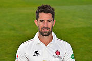 Head shot of Tim Groenewald of Somerset during the 2019 media day at Somerset County Cricket Club at the Cooper Associates County Ground, Taunton, United Kingdom on 2 April 2019.