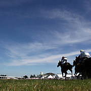 Horse and Jockey's in action during a day at the Races at Ascot Park, Invercargill, Southland, New Zealand. 10th December 2011. Photo Tim Clayton