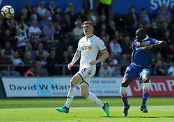 Papa Alioune Ndiaye of Stoke City scores a goal making it 1-1- Mandatory by-line: Nizaam Jones/JMP- 13/05/2018 - FOOTBALL - Liberty Stadium - Swansea, Wales - Swansea City v Stoke City - Premier League