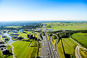 Nederland, Utrecht, Utrecht, 30-09-2015; bedrijventerrein en kantorenlokatie Papendorp met WTC Utrecht, en knooppunt OudenRijn (A12 en A2)<br /> Oudenrijn junction with office locations Papendorp.<br /> luchtfoto (toeslag op standard tarieven);<br /> aerial photo (additional fee required);<br /> copyright foto/photo Siebe Swart