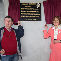 Unvelling of Plaque by the Treston Family in owner of their ancestor, Gort Native Ned Treston.<br /> Ned Treston developed the original hurling slíotor which is in use to the present day.
