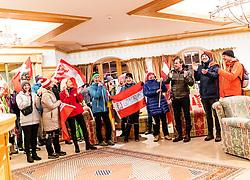 22.02.2019, Seefeld, AUT, FIS Weltmeisterschaften Ski Nordisch, Seefeld 2019, Medaillenempfang Team Österreich Nordische Kombination, im Bild Fans von Bronzemedaillengewinner Franz Josef Rehrl (AUT) // supporters of the Bronze medalist Franz Josef Rehrl of Austria during the medal party of nordic combine team Austria of FIS Nordic Ski World Championships 2019 Seefeld. in Seefeld, Austria on 2019/02/22. EXPA Pictures © 2019, PhotoCredit: EXPA/ JFK