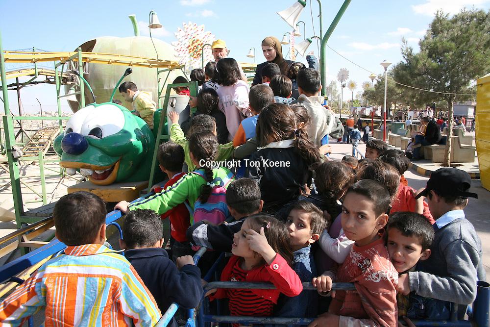 school trip to the city fair, Amman, Jordan