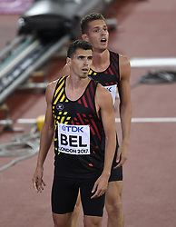 August 13, 2017 - London, England - LONDON , UNITED KINGDOM  - AUGUST 13 : Kevin Borlee, Jonathan Borlee, Dylan Borlee and Robin Vanderbemden of  Belgian Tornado relay  team of 4X400 pictured during 4X400 M final at the16th IAAF World Athletics championships from august 4 till 13, 2017 in London ,United Kingdom, 13/08/2017 (Credit Image: © Panoramic via ZUMA Press)