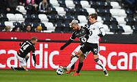 Fotball Menn Eliteserien Rosenborg-Odd<br /> Lerkendal Stadion, Trondheim<br /> 8 april 2019<br /> <br /> Anders Konradsen, Rosenborg (H) og Sander Svendsen, i duell<br /> <br /> <br /> Foto : Arve Johnsen, Digitalsport