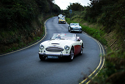 &copy; Licensed to London News Pictures. <br /> 10/09/2017 <br /> Saltburn by the Sea, UK.  <br /> <br /> Entrants return to the bottom of the hill after taking part in the annual Saltburn by the Sea Historic Gathering and Hill Climb event. Organised by Middlesbrough and District Motor Club the event brings together owners of a wide range of classic cars and motorcycles dating from the early 1900's to 1975. Participants take part in a hill climb to test their machines up a steep hill near the town. Once held as a competitive gathering a change in road regulations forced the hill climb to become a non-competitive event.<br /> <br /> Photo credit: Ian Forsyth/LNP