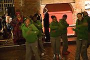 CAMILA BATMANGHELIDJH; GWYNETH PALTROW,  WILL GOMPERTZ WATCH DANCERS. Rumble in the Jumble hosted by Gwyneth Paltrow and Camila Batmanghelidjh. To support Kids Company. The Boiler House. 152 Brick Lane. 6 November 2008 *** Local Caption *** -DO NOT ARCHIVE-© Copyright Photograph by Dafydd Jones. 248 Clapham Rd. London SW9 0PZ. Tel 0207 820 0771. www.dafjones.com.
