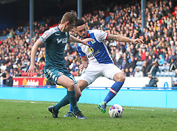Callum Connolly of Wigan Athletic (L) and Derrick Williams of Blackburn Rovers in action - Mandatory by-line: Jack Phillips/JMP - 04/03/2017 - FOOTBALL - Ewood Park - Blackburn, England - Blackburn Rovers v Wigan Athletic - Football League Championship