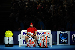 November 17, 2017 - London, England, United Kingdom - Dominic Thiem of Austria against David Goffin of Belgium during Day six of the Nitto ATP World Tour Finals played at The O2 Arena, London on November 17 2017  (Credit Image: © Alberto Pezzali/NurPhoto via ZUMA Press)