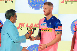 March 22, 2019 - Jaipur, Rajasthan, India - Rajasthan Royals player Ben Strokes during the team jersey unveiled ceremony ahead the IPL 2019 matches  in Jaipur, Rajasthan, India  on March 22,2019. (Credit Image: © Vishal Bhatnagar/NurPhoto via ZUMA Press)