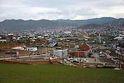 A view of the capital city of Mongolia, Ulan Bator.
