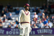 Jamie Overton of Somerset during the Specsavers County Champ Div 1 match between Somerset County Cricket Club and Lancashire County Cricket Club at the Cooper Associates County Ground, Taunton, United Kingdom on 5 September 2018.