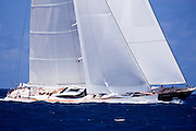 Artemis sailing in the 2010 St. Barth's Bucket superyacht regatta, race 2.