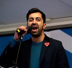 Independence Rally, Glasgow, Saturday 2nd November 2019<br /> <br /> Pictured: Humza Yousaf MSP<br /> <br /> Alex Todd   Edinburgh Elite media