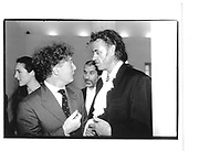 Alan Yentob, Bob Geldof, Malcolm Mclaren. Vanity Fair party, Serpentine '95, Serpentine gallery, London 28th June 1995© Copyright Photograph by Dafydd Jones 66 Stockwell Park Rd. London SW9 0DA Tel 020 7733 0108 www.dafjones.com