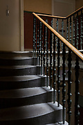 Victorian stairwell architecture leading to flats in Edinburgh, on 25th June 2019, in Edinburgh, Scotland.