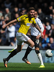 Harlee DEAN Brentford, Derby County v Brentford, Sy Bet Championship, IPro Stadium, Saturday 11th April 2015. Score 1-1,  (Bent 92) (Pritchard 28)<br /> Att 30,050