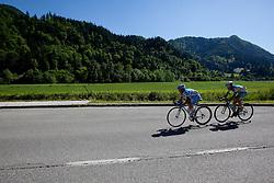 POZZOVIVO Domenico of Colnago and BRAJKOVIC Janez of Astana during 3rd Stage (219 km) at 19th Tour de Slovenie 2012, on June 16, 2012, in Skofja Loka, Slovenia. (Photo by Matic Klansek Velej / Sportida.com)