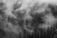 Winter mist in  Tunnel View, Yosemite National Park, California