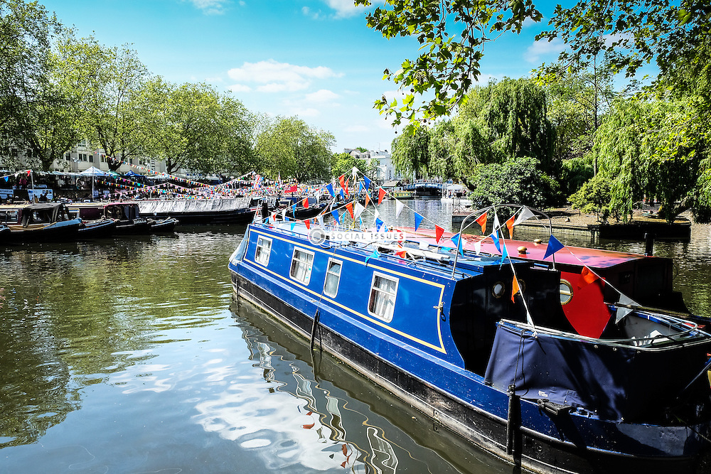 The annual Canalway Cavalcade celebration organised by the Inland Waterways Association. Paddington Basin, London UK 2014
