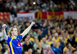 Lukas Nilsson of Sweden reacts during handball match between National teams of Germany and Sweden on Day 4 in Preliminary Round of Men's EHF EURO 2016, on January 18, 2016 in Centennial Hall, Wroclaw, Poland. Photo by Vid Ponikvar / Sportida