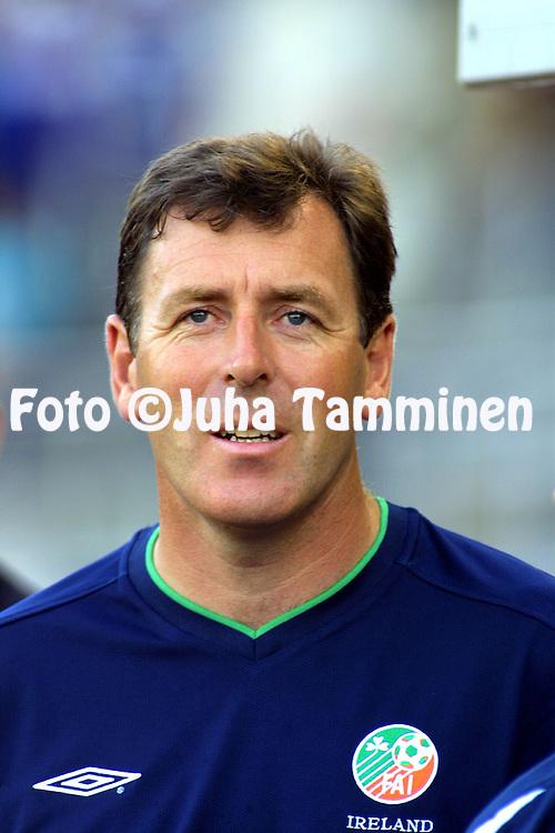 21.08.2002, Olympic Stadium, Helsinki, Finland..Friendly International Match, Finland v Republic of Ireland.Patrick Bonner - Ireland.©Juha Tamminen