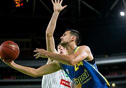 Simo Atanackovic of Hopsi during basketball match between KK Petrol Olimpija and KK Hopsi Polzela in Round #2 of Liga NovaKBM 2018/19, on October 21, 2018, in Arena Stozice, Ljubljana, Slovenia. Photo by Vid Ponikvar / Sportida