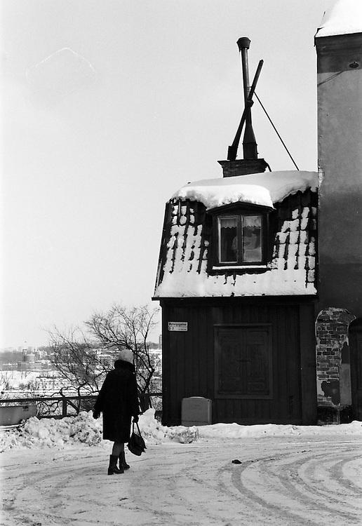 Vinter på Nytorgsgatan / Glasbruksgatan
