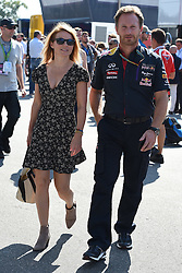 06.09.2014, Autodromo di Monza, Monza, ITA, FIA, Formel 1, Grand Prix von Italien, Qualifying, im Bild 06.09.2014, Autodromo di Monza, Monza, ITA, FIA, Formel 1, Grand Prix von Italien, Qualifying, im Bild Geri Halliwell (GBR) and Christian Horner (GBR) Red Bull Racing Team Principal // during the Qualifying of Italian Formula One Grand Prix at the Autodromo di Monza in Monza, Italy on 2014/09/06. EXPA Pictures © 2014, PhotoCredit: EXPA/ Sutton Images<br /> <br /> *****ATTENTION - for AUT, SLO, CRO, SRB, BIH, MAZ only*****