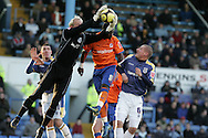 Peter Enckelman, Cardiff City goalkeeper saves from Reading's Leroy Lita. FA Cup, 3rd round match, Cardiff City v Reading at Ninian Park, Cardiff on Sat 3rd Jan 2009. .pic by Andrew Orchard, Andrew Orchard sports photography