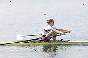 Eton, United Kingdom.  Hester GOODSELL, competing in the Women's Lightweight Single Sculls  Sat. time trial.  2011 GBRowing Trials, Dorney Lake. Saturday  16/04/2011  [Mandatory Credit; Peter Spurrier/Intersport-images] Venue For 2012 Olympic Regatta and Flat Water Canoe events.