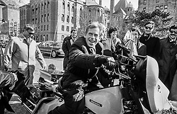 Dream journey: Canada and the United States, 18&ndash;23 February 1990 <br /> On a police motorcycle, Ottawa