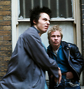 Sid Vicious - Sex Pistols Oxford Street Glitterbest photosession - 1977