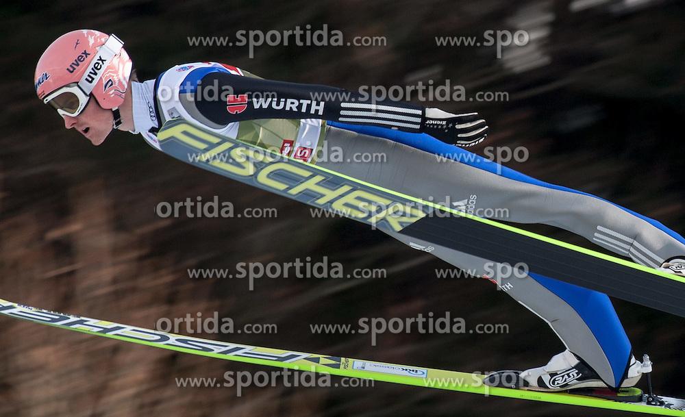 03.01.2015, Bergisel Schanze, Innsbruck, AUT, FIS Ski Sprung Weltcup, 63. Vierschanzentournee, Innsbruck, Training, im Bild Severin Freund (GER) // Severin Freund of Germany soars through the air during a training session for the 63rd Four Hills Tournament of FIS Ski Jumping World Cup at the Bergisel Schanze in Innsbruck, Austria on 2015/01/03. EXPA Pictures © 2015, PhotoCredit: EXPA/ Jakob Gruber