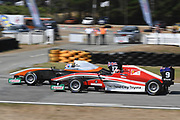 Clement Novalak out accelerates Marcus Armstrong at the start of the feature race of Round 2 of the Castrol Toyota Racing Series at Teretonga, Invercargill on Sunday 21 January 2018.<br /> Copyright photo: Bruce Jenkins / www.photosport.nz