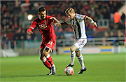 Marlon Pack, James McLean during the The FA Cup Third Round Replay match between Bristol City and West Bromwich Albion at Ashton Gate, Bristol, England on 19 January 2016. Photo by Daniel Youngs.