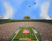 9-25-2016 - Green Bay Packers Game vs. Detroit Lions, F-16 fly over