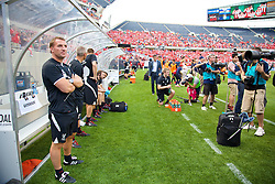 CHICAGO, USA - Sunday, July 27, 2014: Liverpool's manager Brendan Rodgers before the International Champions Cup Group B match against Olympiacos at the Soldier Field Stadium on day seven of the club's USA Tour. (Pic by David Rawcliffe/Propaganda)