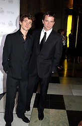 Left to right, actors HUGH DANCY and  JAMES PUREFOY at the 2004 British Fashion Awards held at Thhe V&A museum, London on 2nd November 2004.<br /><br />NON EXCLUSIVE - WORLD RIGHTS