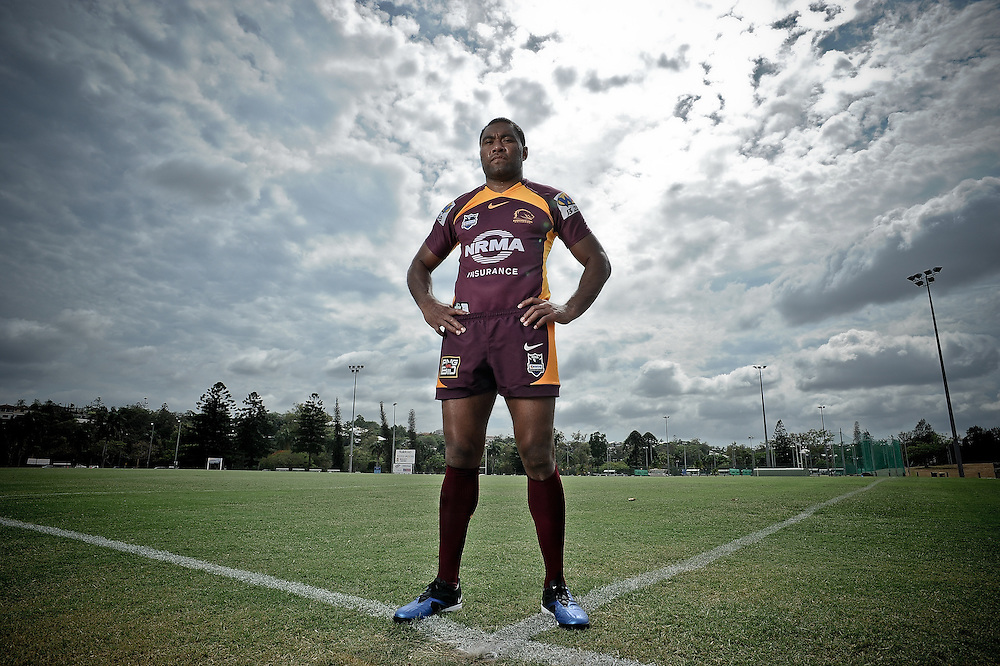 November 23, Brisbane Broncos Training Session, Petero Civoniceva poses for a photo at the University of Queensland in Brisbane. Wednesday November 23, 2011. Photo: Matt Roberts/Nikon