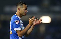 Liam Rosenior of Brighton & Hove Albion looks dejected after the match - Mandatory by-line: Paul Terry/JMP - 16/05/2016 - FOOTBALL - Amex Stadium - Brighton, England - Brighton and Hove Albion v Sheffield Wednesday - Sky Bet Championship Play-off Semi-final second leg