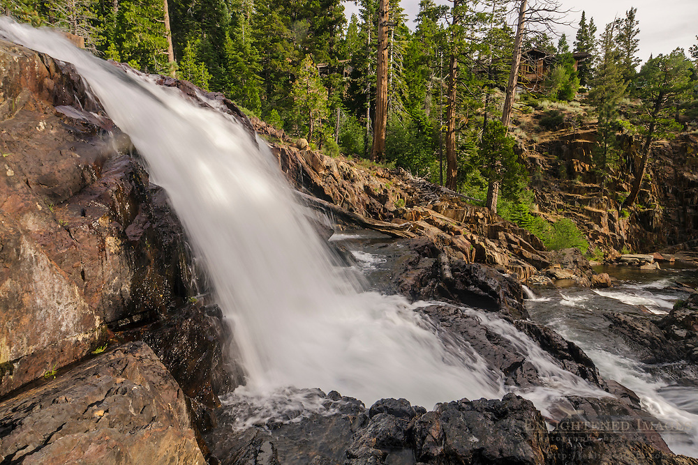 Glen Alpine Falls along Glen Alpine Creek, Eldorado National Forest,  El Dorado County, near South Lake Tahoe, California