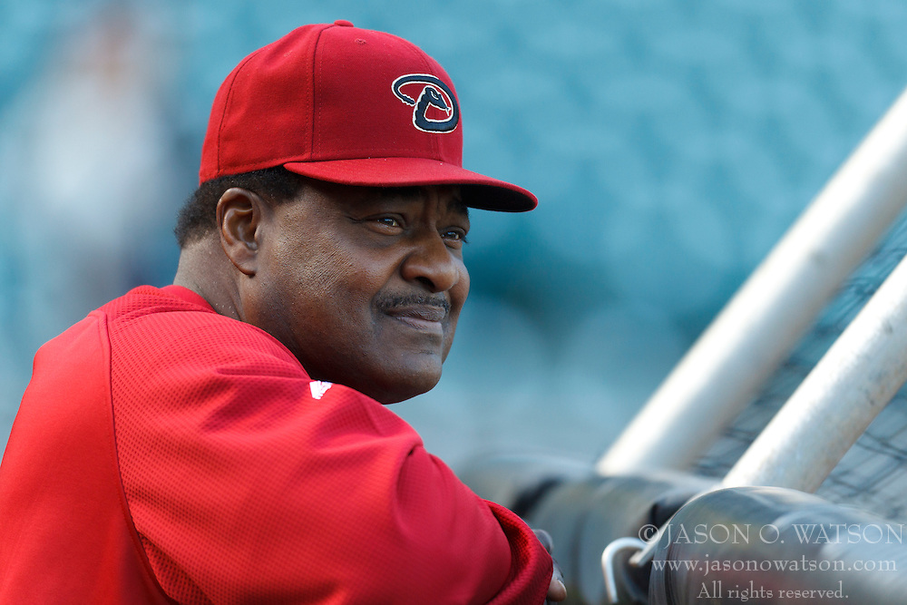 May 10, 2011; San Francisco, CA, USA;  Arizona Diamondbacks batting coach Don Baylor (25) watches his team during batting practice before the game against the San Francisco Giants at AT&T Park.  San Francisco defeated Arizona 1-0.