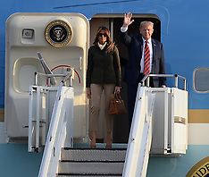 President Trump arrives in Scotland,  Prestwick, 13 July 2018